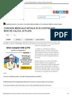 2018 Concedii Medicale Initiale Si in Continuare_ Mod de Calcul Si Plata