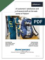 Flipkart-measuring Customer Satisfaction & Availability of Several Stuff at Web Portal