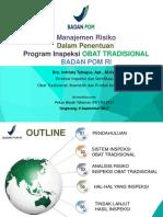 Manajemen Risiko Dalam Penentuan Program Inspeksi