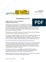 Normalisation of Call