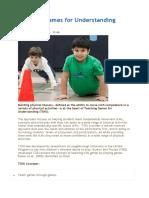 Teaching Games for Understanding3