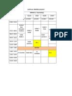 Jadwal Minggu i Blok Emergency