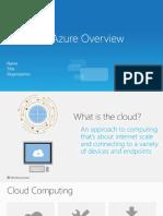 Windows Azure Overview