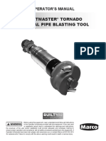 Blastmaster Tornado Internal Pipe Blasting Tool Operators Manual 1090614