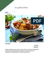 Tocana de Porc Gatita in Bere