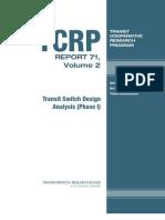 Tcrp Rpt 71v2(Transit Switch Design Analysis)