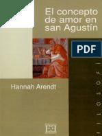 Arendt - El concepto de amor en san agustín