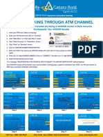 Poster for Aadhar Linking Through Atm Channel