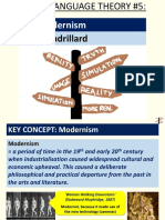 Postmodernism Jean Baudrillard (Media Language Theory 5)