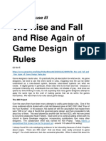 Richard Rouse III, The Rise and Fall and Rise Again of Game Design Rules, 2015