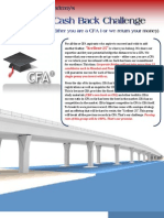 CFA I Cash Back Challenge