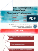 Administrasi Pembangunan & Fungsi-fungsi  Manajemen Pembangunan