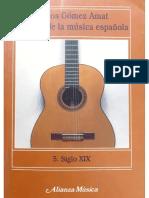 historia de la música española. siglo xix gomez amat