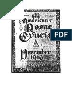 AMORC-The American Rosae Crucis 11 Noviembre 1916 Completo Traducido Al Español