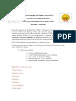 BDTC Dehradun Web- Page Contents