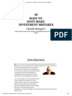 Value Research - 20 Ways to (Not) Make Investment Mistakes