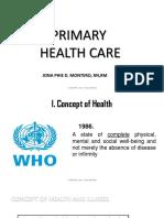 Primary Health Care 1