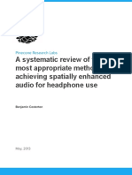 A Systematic Review of the Most Appropriate Methods of Achieving Spatially Enhanced Audio for Headphone Use