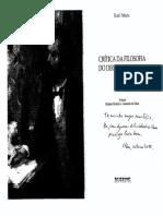 Crítica Da Filosofia Do Direito de Hegel. Boitempo. 2005 - MARX, K - 2