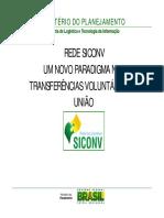 Rede Siconv - Um Novo Paradigma