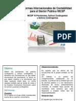 4. Nicsp 19 Provisiones, Pasivos Cont. Act. Cont