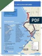 Carte du parcours Run in Marseille 2018 - avec les zones de restriction