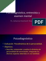Psicodiagnóstico, Entrevista y Examen Mental