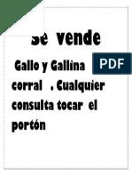 Gallo y Gallina