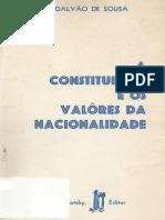 José Pedro Galvão de Sousa - A Constituição e Os Valores Da Nacionalidade