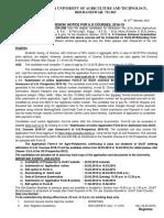o.u.a.t. u.g. Adm. Notice PDF