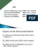 Strategic Management Pesentation of Group 6