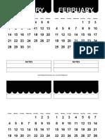 2018 Cute Scallop Calendar