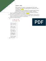 Atividades de Sistemas de Equações