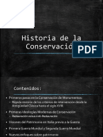 1. Historia de La Conservaciòn