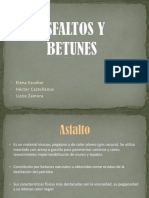 Asfaltos y Betunes