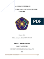 Tugas 1 Ekotek - Perhitungan Biaya Kuliah (Hikam a. - 0117)