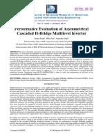Performance Evaluation of Asymmetricalcascaded Hbridge Multilevel Inverter