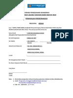 Borang Proksi AGM (Individu)- 2018-2019 (KEDAH)