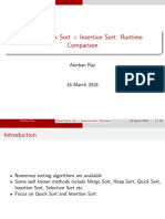Hybrid Quick Sort + Insertion Sort