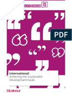 Achieving the SDGs