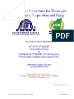 Azteca UCN Policies and Procedures for Thesis and Dissertation Preparation and Filing March 2013