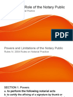 The Special Role of the Notary Public