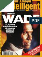 Sénégal - Couverture Jeune Afrique (n°2046)