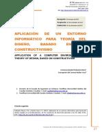 Aplicación de un entorno informático para teoría del diseño, basado en el constructivismo  Verónica Maribel Pailiacho, Concepción del Carmen Bedón Vaca