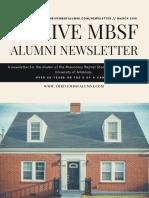 Spring 2018 Alumni Newsletter