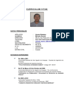 Curriculum Vitae 2014 Actualizado