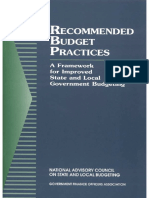 GFOA RecommendedBudgetPractices