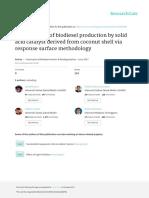 Diseño de experimentos en ensayos con Biodiesel