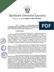 Resolucion Directoral Ejecutiva Nº 064 2016