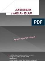 7. Karakteristik Syari'Ah Islamc